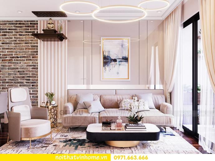 thiết kế thi công nội thất chung cư Sunshine Riverside nhà chị Hà 5