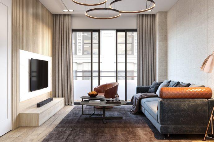 nội thất chung cư Vinhomes Skylake căn 2 ngủ hiện đại
