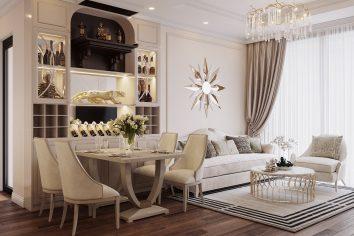thiết kế nội thất căn hộ chung cư DCapitale tòa C6 căn 07 anh Long
