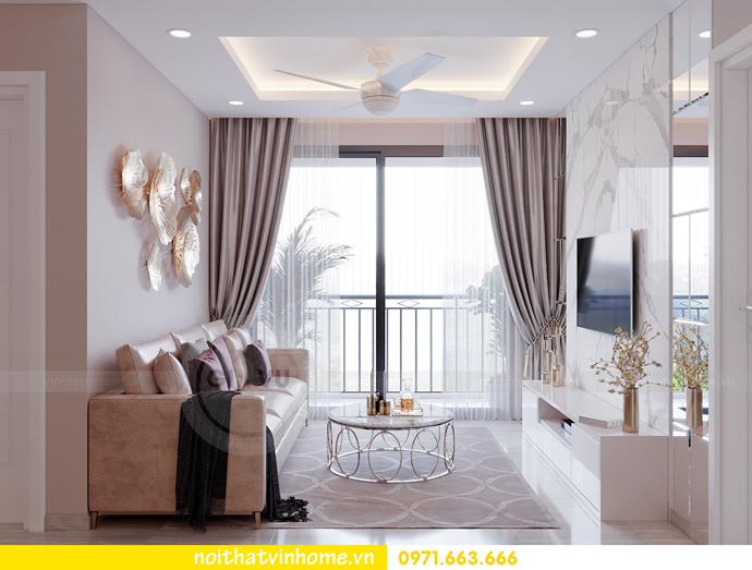 thiết kế nội thất căn hộ Vinhomes DCapitale tòa C7 căn 01 nhà chị Minh 03