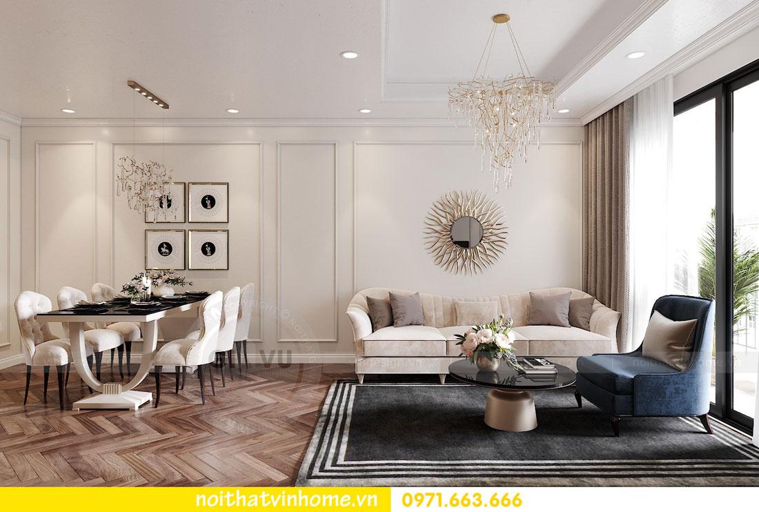 thiết kế nội thất chung cư DCapitale 3 phòng ngủ C7 căn 12 3