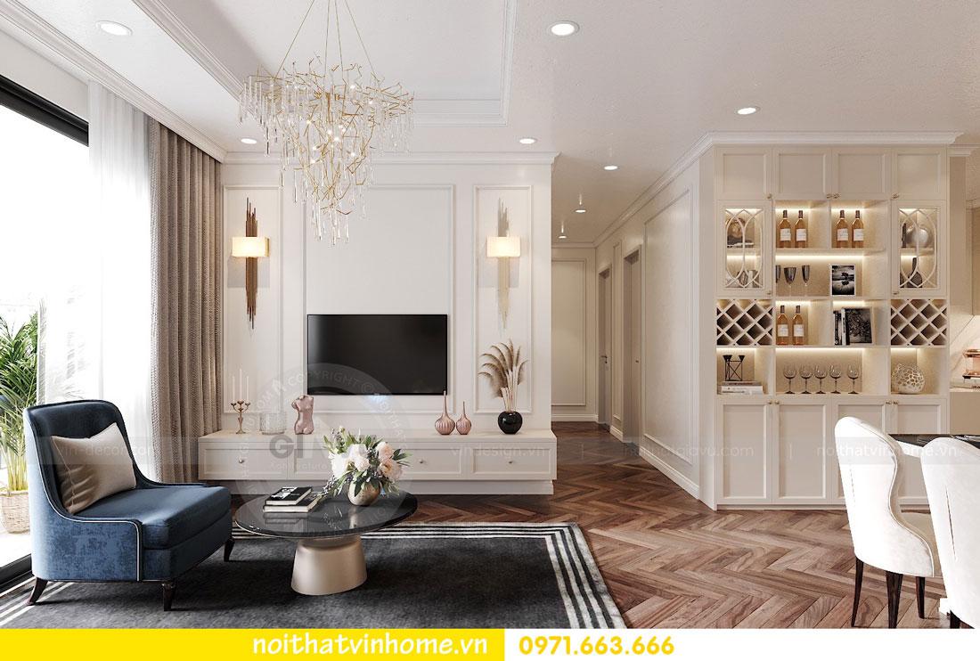 thiết kế nội thất chung cư DCapitale 3 phòng ngủ C7 căn 12 4
