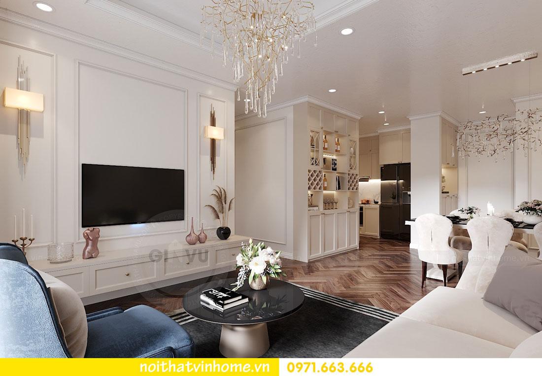 thiết kế nội thất chung cư DCapitale 3 phòng ngủ C7 căn 12 5