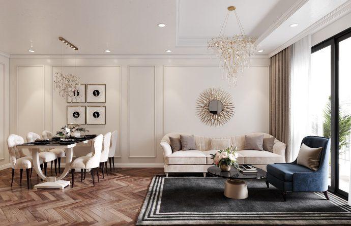 thiết kế nội thất chung cư DCapitale 3 phòng ngủ
