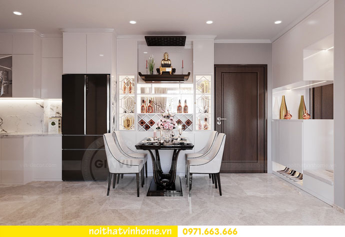 thiết kế nội thất chung cư Vinhomes DCapitale chị Tuyết 01