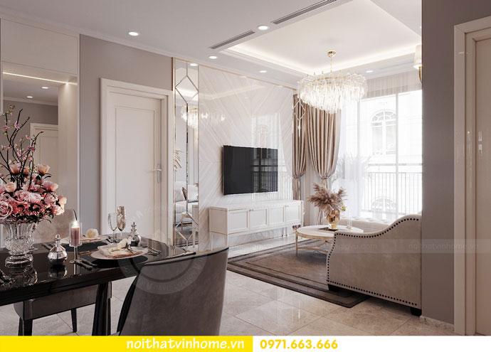 thiết kế nội thất chung cư Vinhomes DCapitale chị Tuyết 02