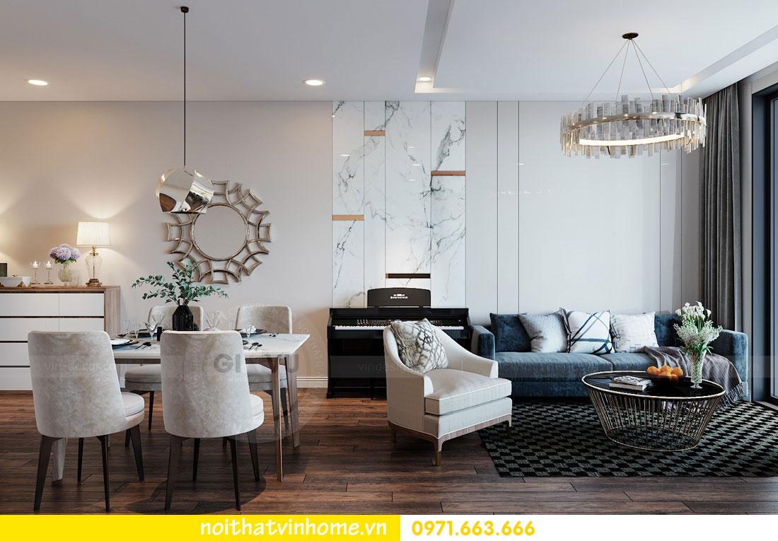 thiết kế nội thất chung cư Vinhomes Metropolis tòa M2 căn 15 3