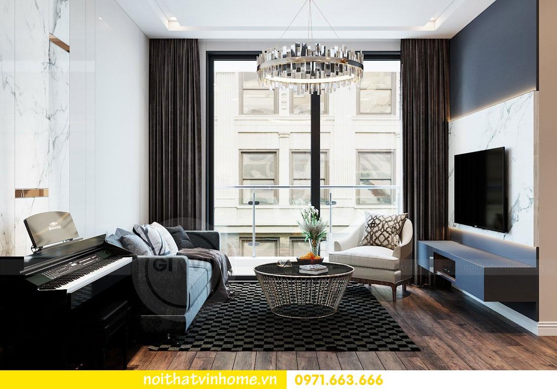 thiết kế nội thất chung cư Vinhomes Metropolis tòa M2 căn 15 4