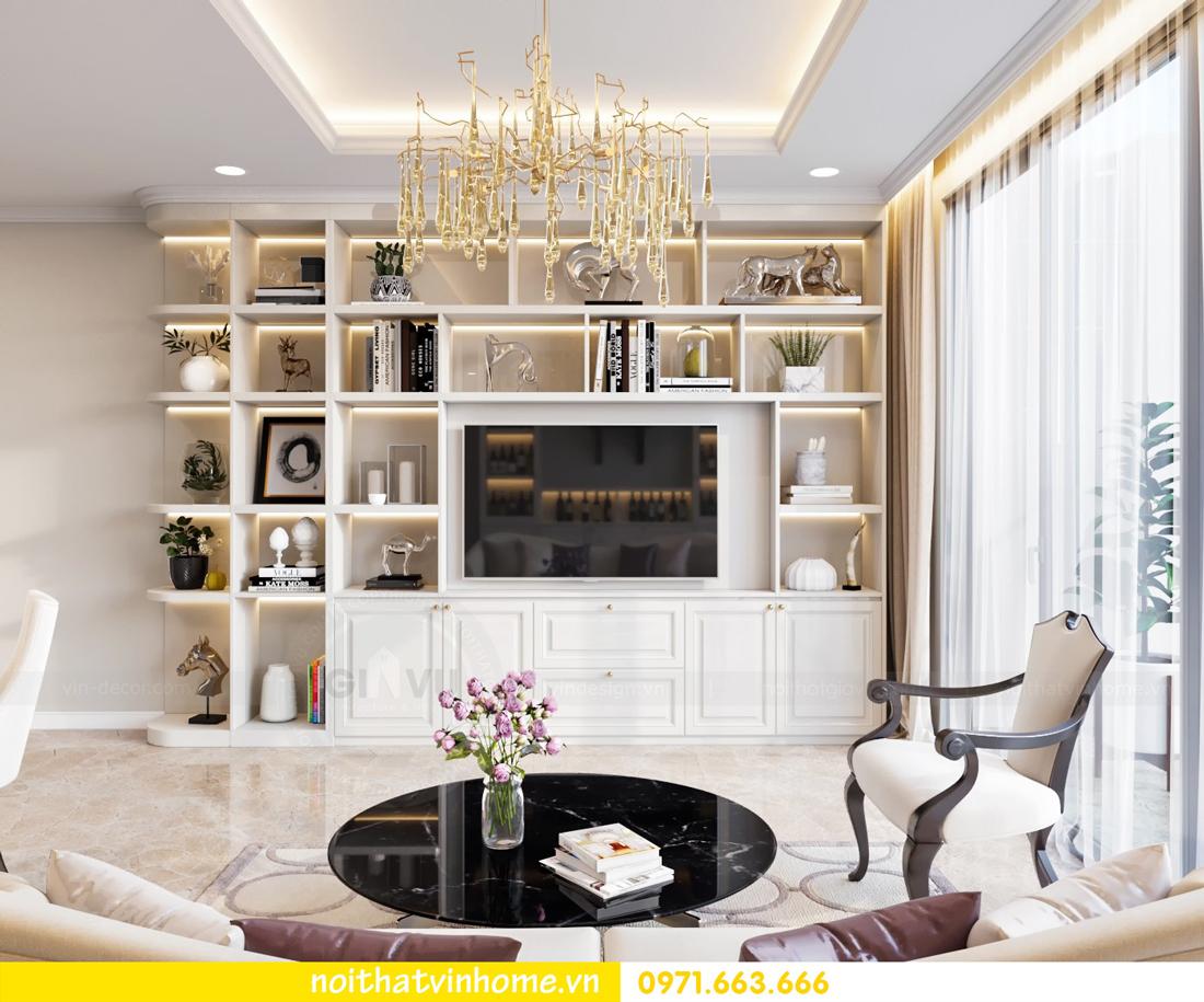 thiết kế thi công nội thất chung cư DCapitale tòa C7 căn 08 anh Sơn 05