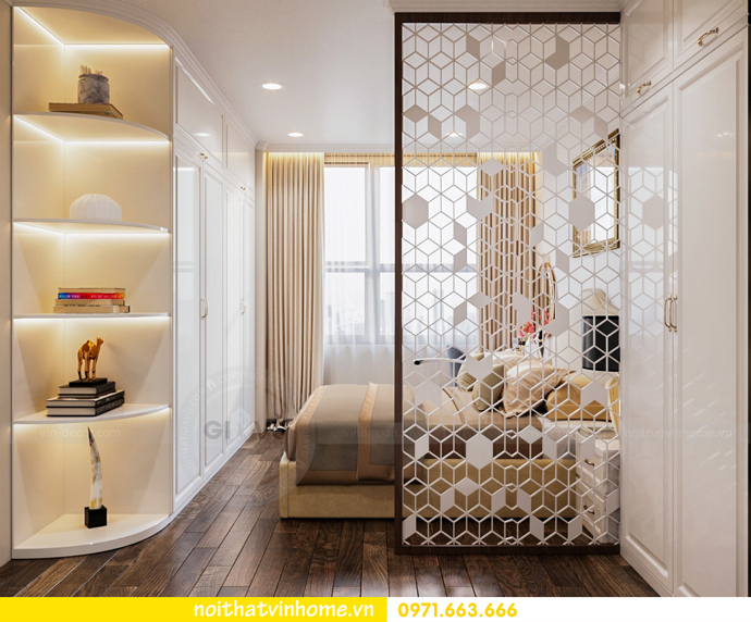 thiết kế thi công nội thất chung cư DCapitale tòa C7 căn 08 anh Sơn 06