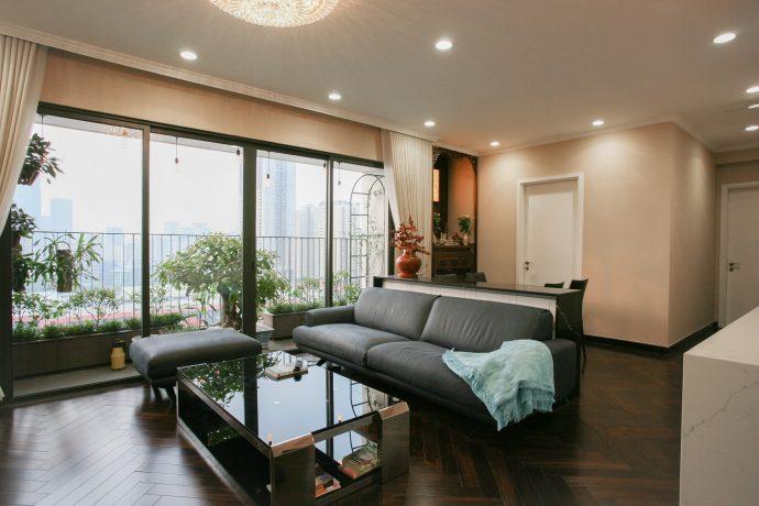 thiết kế thi công nội thất chung cư trọn gói nhà chị Mai DCapitale