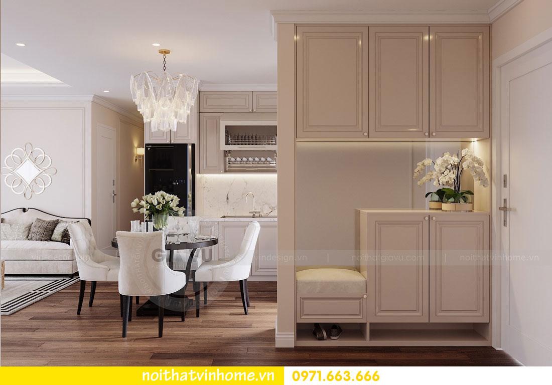 mẫu thiết kế nội thất đẹp tại chung cư DCapitale nhà chị Loan 1