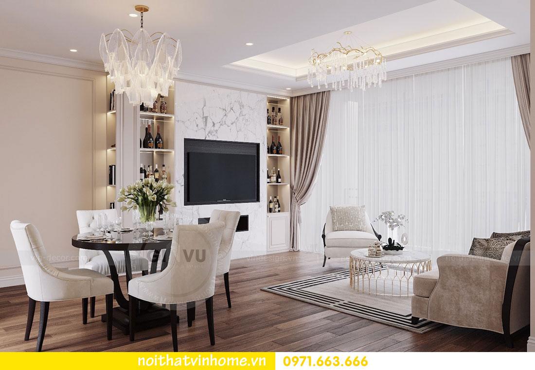 mẫu thiết kế nội thất đẹp tại chung cư DCapitale nhà chị Loan 2