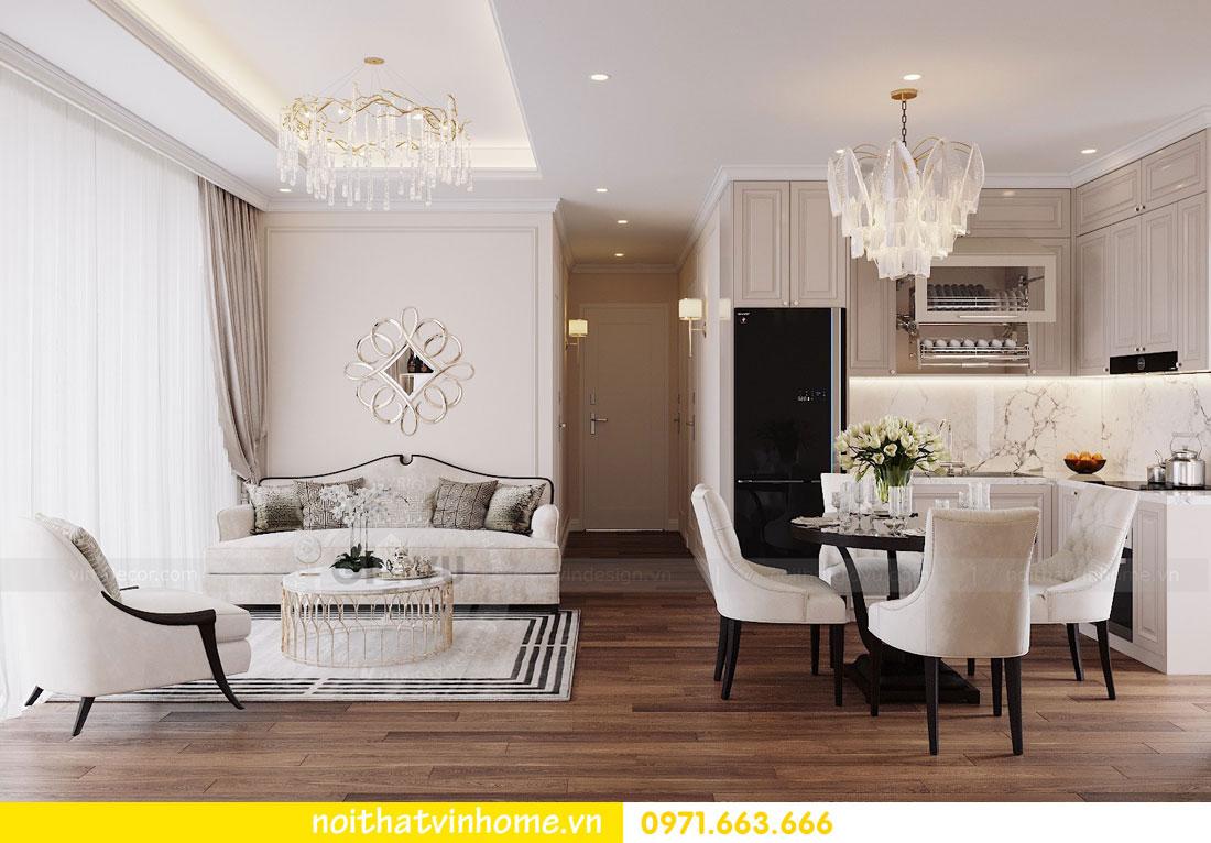 mẫu thiết kế nội thất đẹp tại chung cư DCapitale nhà chị Loan 4