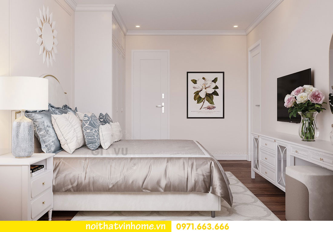 mẫu thiết kế nội thất đẹp tại chung cư DCapitale nhà chị Loan 7