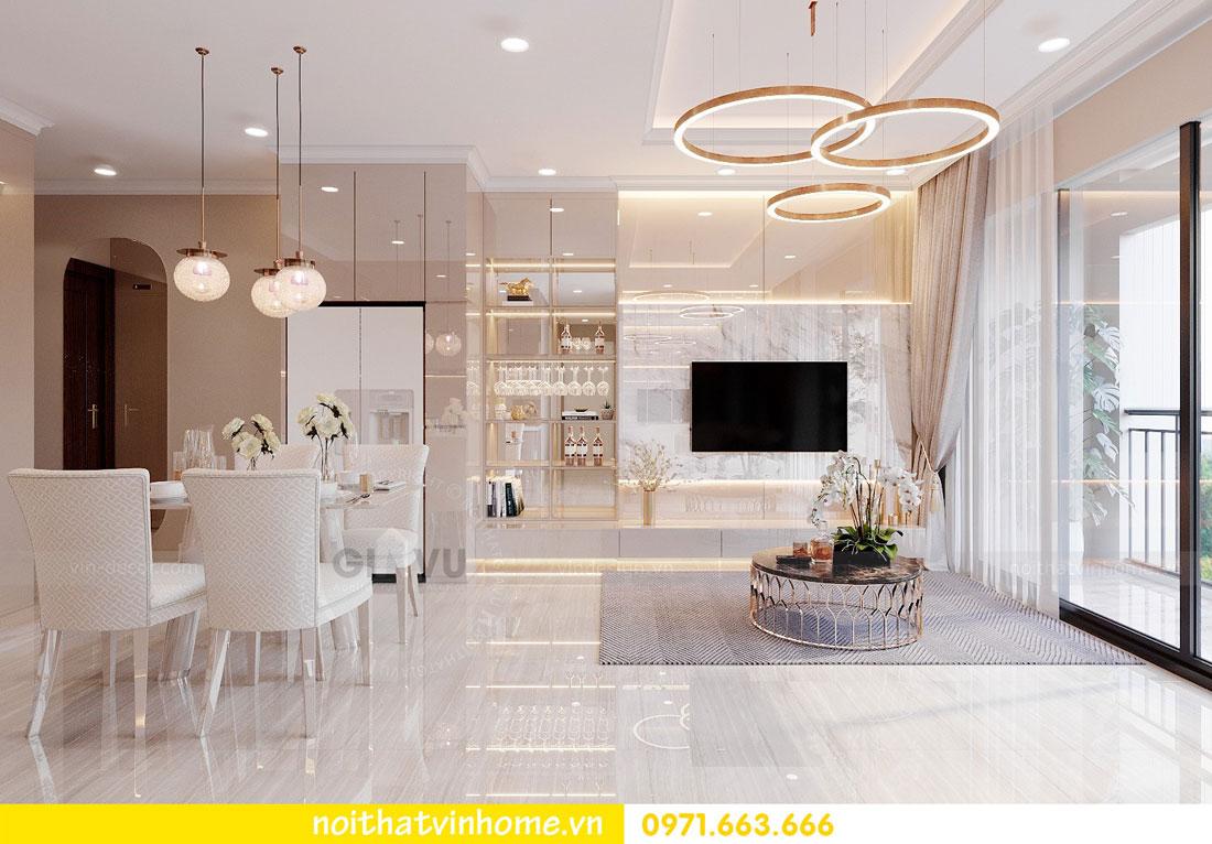nội thất gỗ Acrylic trong thiết kế căn hộ nhà chị Huệ 2