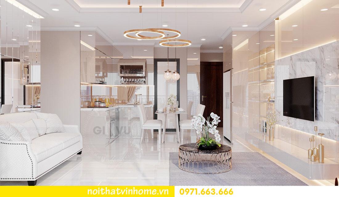 nội thất gỗ Acrylic trong thiết kế căn hộ nhà chị Huệ 4