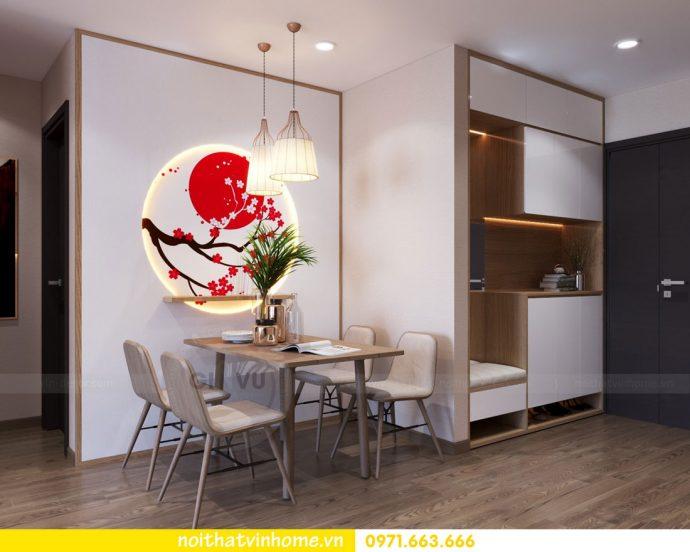 phong cách Nhật Bản trong thiết kế nội thất chung cư nhà chị Vân 01
