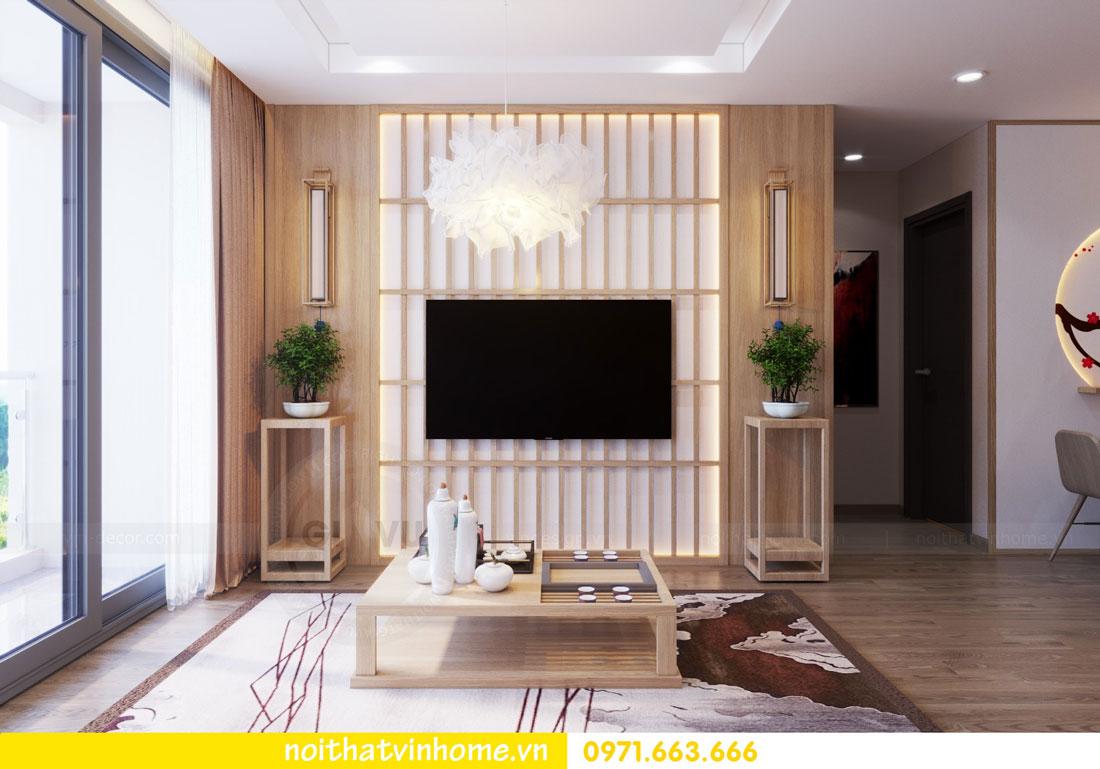 phong cách Nhật Bản trong thiết kế nội thất chung cư nhà chị Vân 04