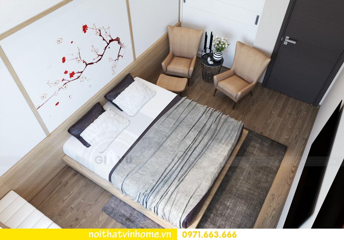 phong cách Nhật Bản trong thiết kế nội thất chung cư nhà chị Vân 05