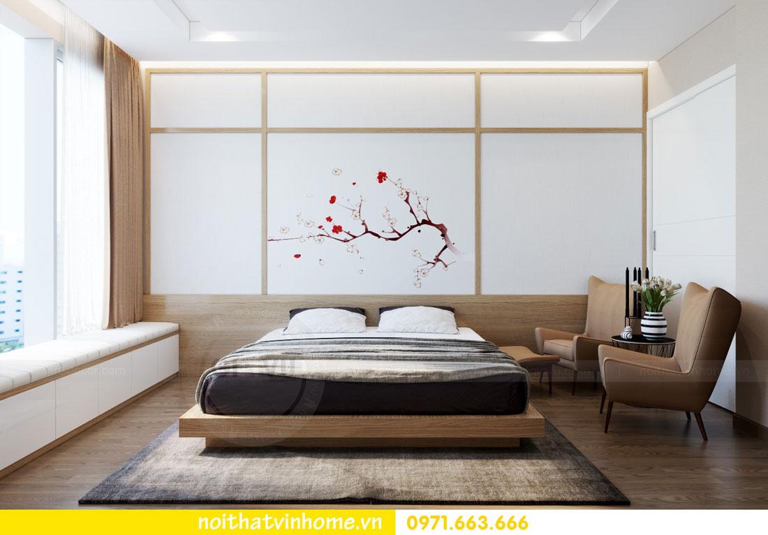 phong cách Nhật Bản trong thiết kế nội thất chung cư nhà chị Vân 06