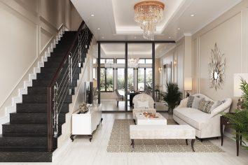 thiết kế nội thất biệt thự hiện đại sang trọng nhà chị Ánh