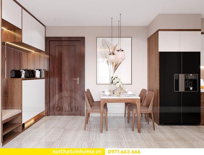 thiết kế nội thất căn hộ 63m2 đẹp sang trọng với phong cách hiện đại 1