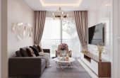 thiết kế nội thất căn hộ 63m2 đẹp sang trọng với phong cách hiện đại