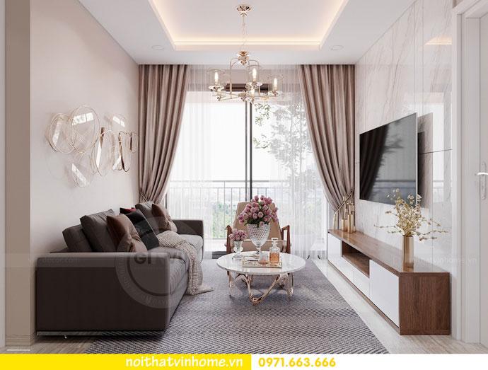 thiết kế nội thất căn hộ 63m2 đẹp sang trọng với phong cách hiện đại 3