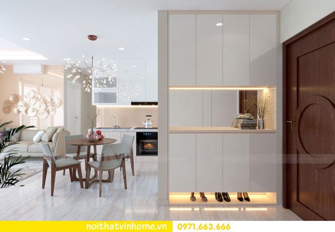 thiết kế nội thất căn hộ chung cư đẹp tòa C1 căn 11 DCapitale 01