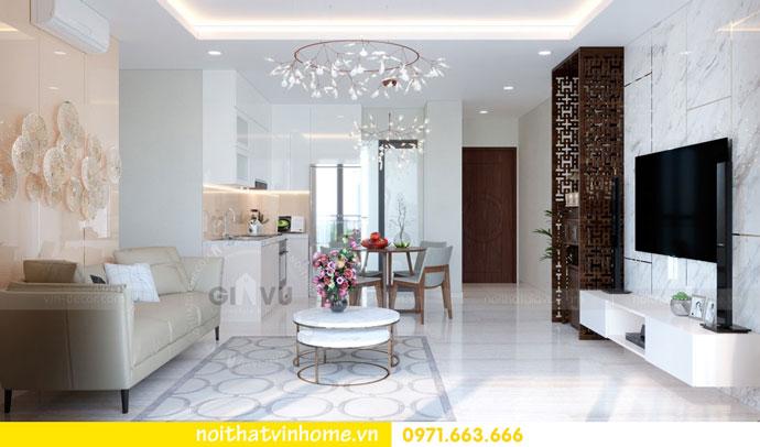 thiết kế nội thất căn hộ chung cư đẹp tòa C1 căn 11 DCapitale 03