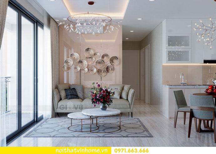 thiết kế nội thất căn hộ chung cư đẹp tòa C1 căn 11 DCapitale 04