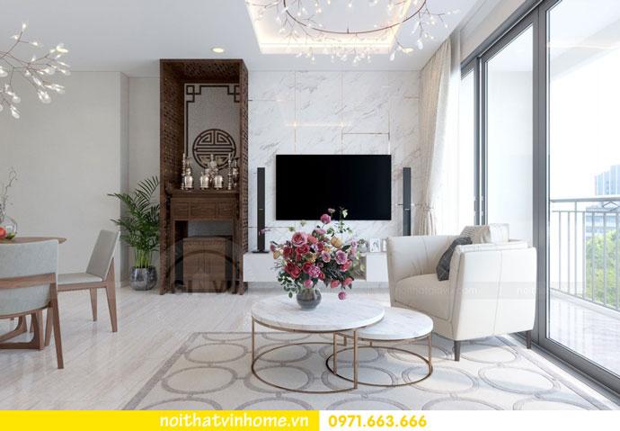 thiết kế nội thất căn hộ chung cư đẹp tòa C1 căn 11 DCapitale 05