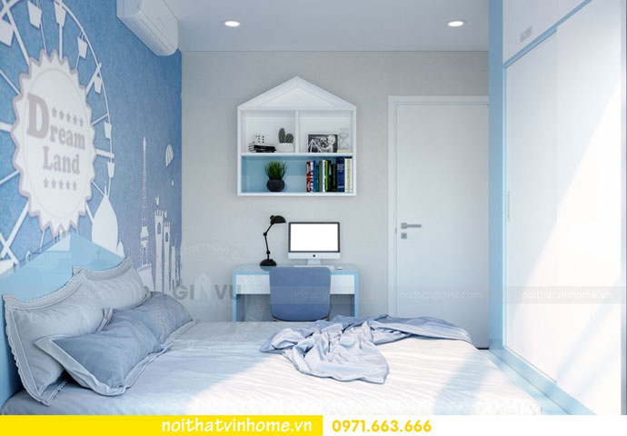 thiết kế nội thất căn hộ chung cư đẹp tòa C1 căn 11 DCapitale 10
