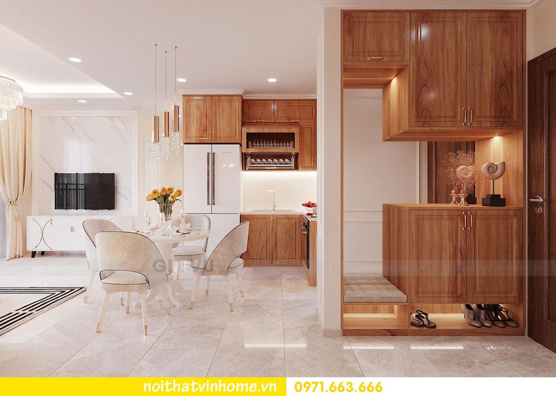 thiết kế nội thất căn hộ với gỗ sồi tự nhiên 01