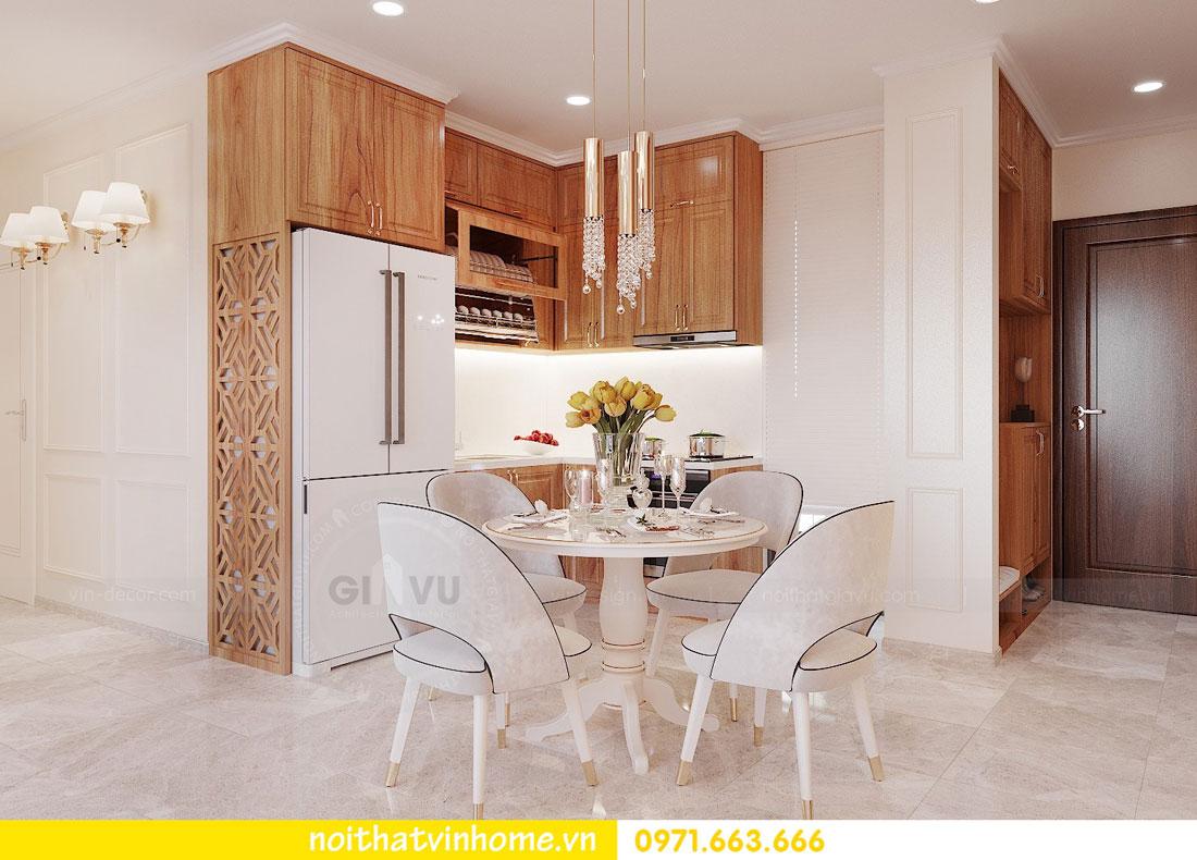 thiết kế nội thất căn hộ với gỗ sồi tự nhiên 02