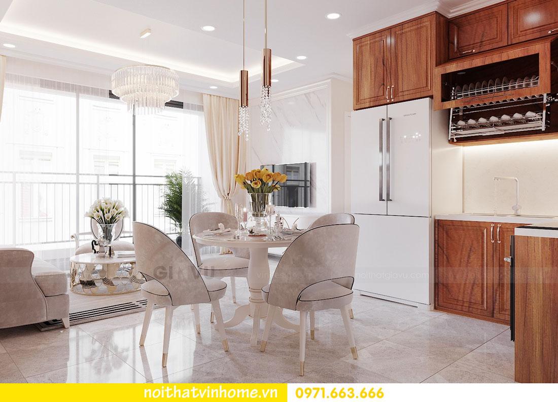 thiết kế nội thất căn hộ với gỗ sồi tự nhiên 03