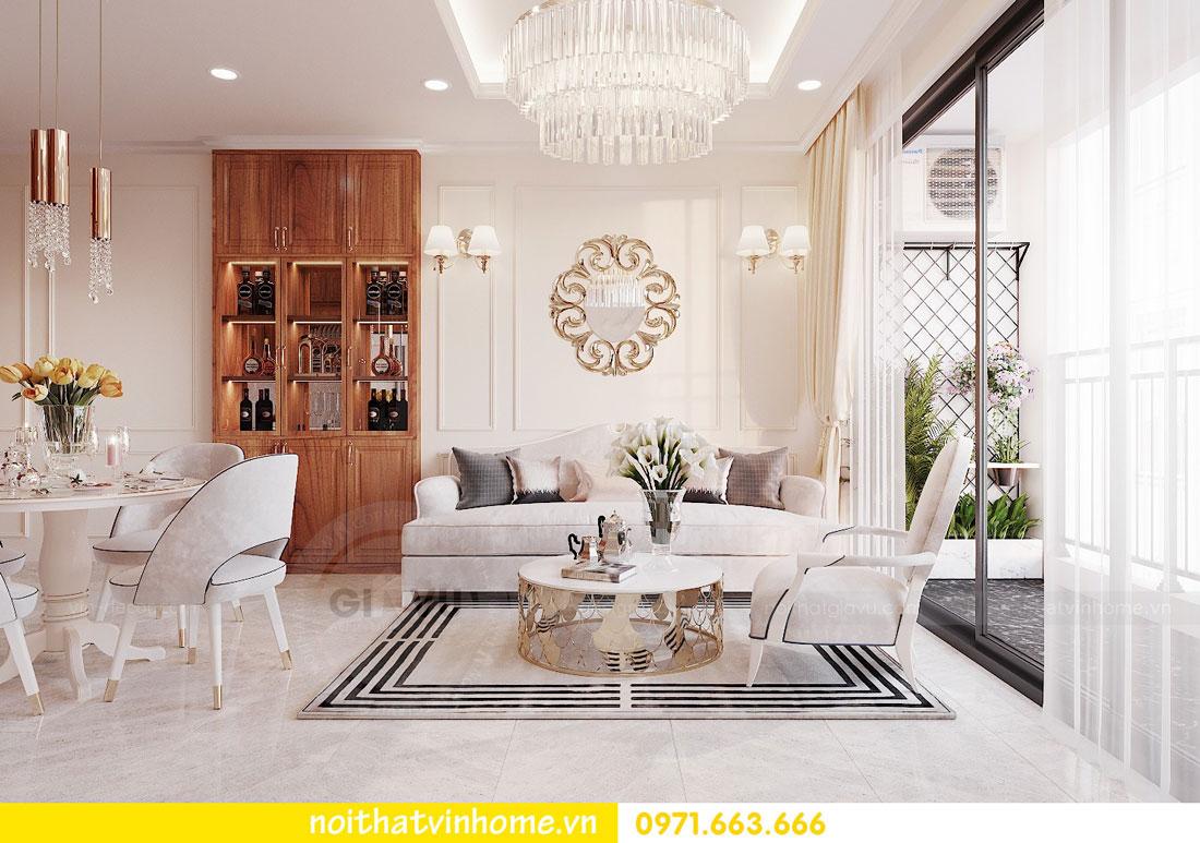 thiết kế nội thất căn hộ với gỗ sồi tự nhiên 04