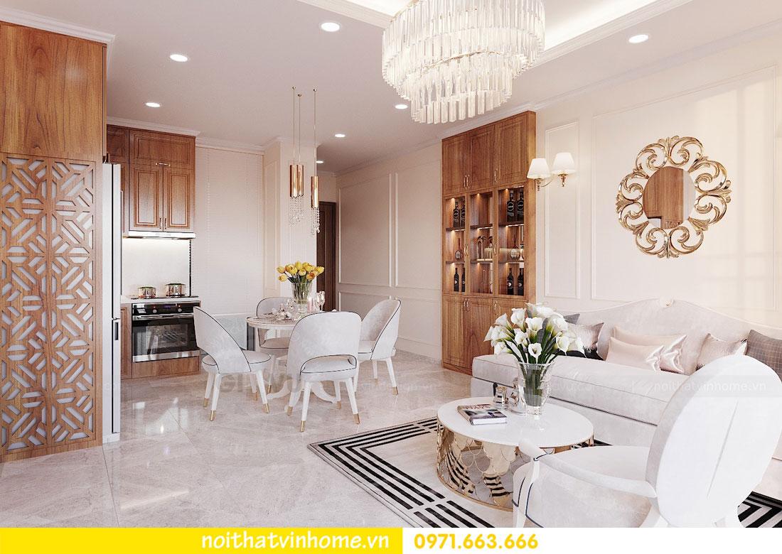 thiết kế nội thất căn hộ với gỗ sồi tự nhiên 05