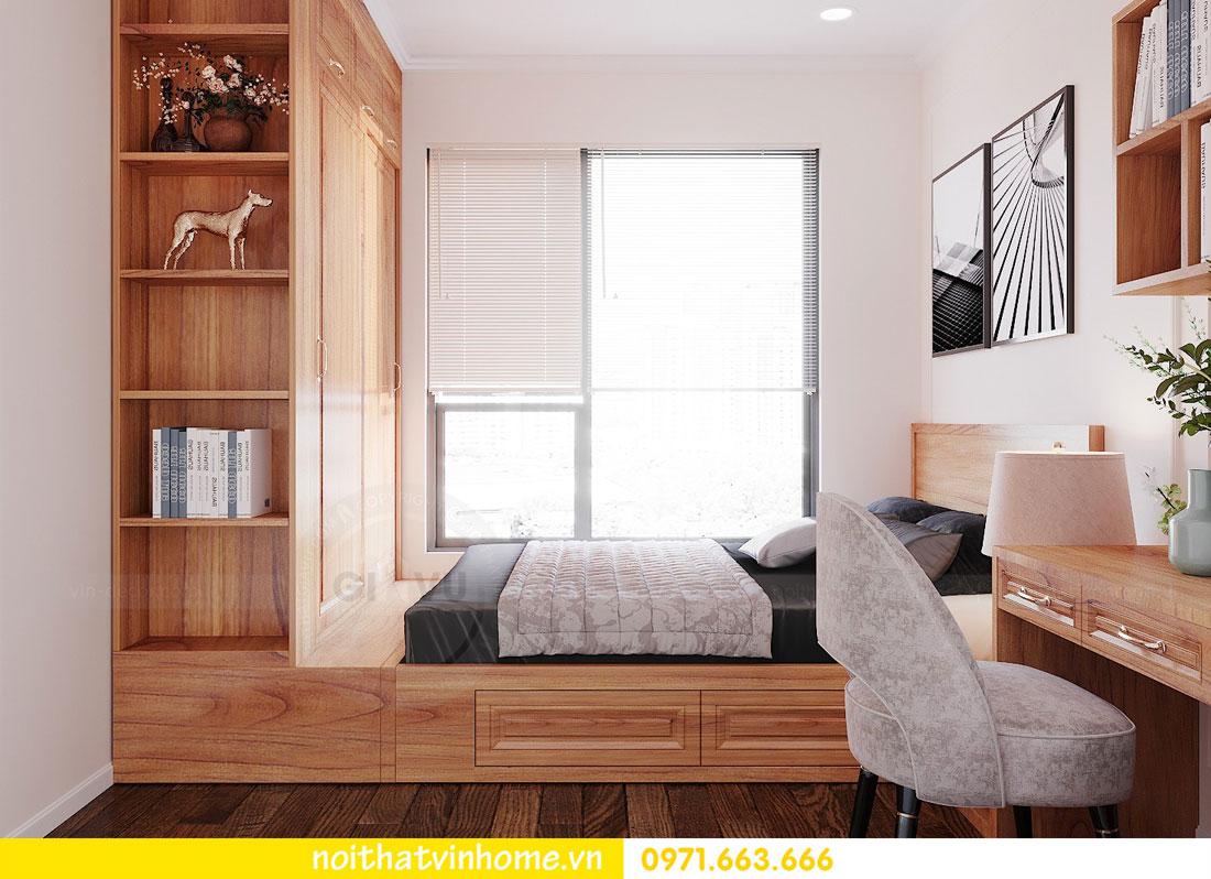 thiết kế nội thất căn hộ với gỗ sồi tự nhiên 10