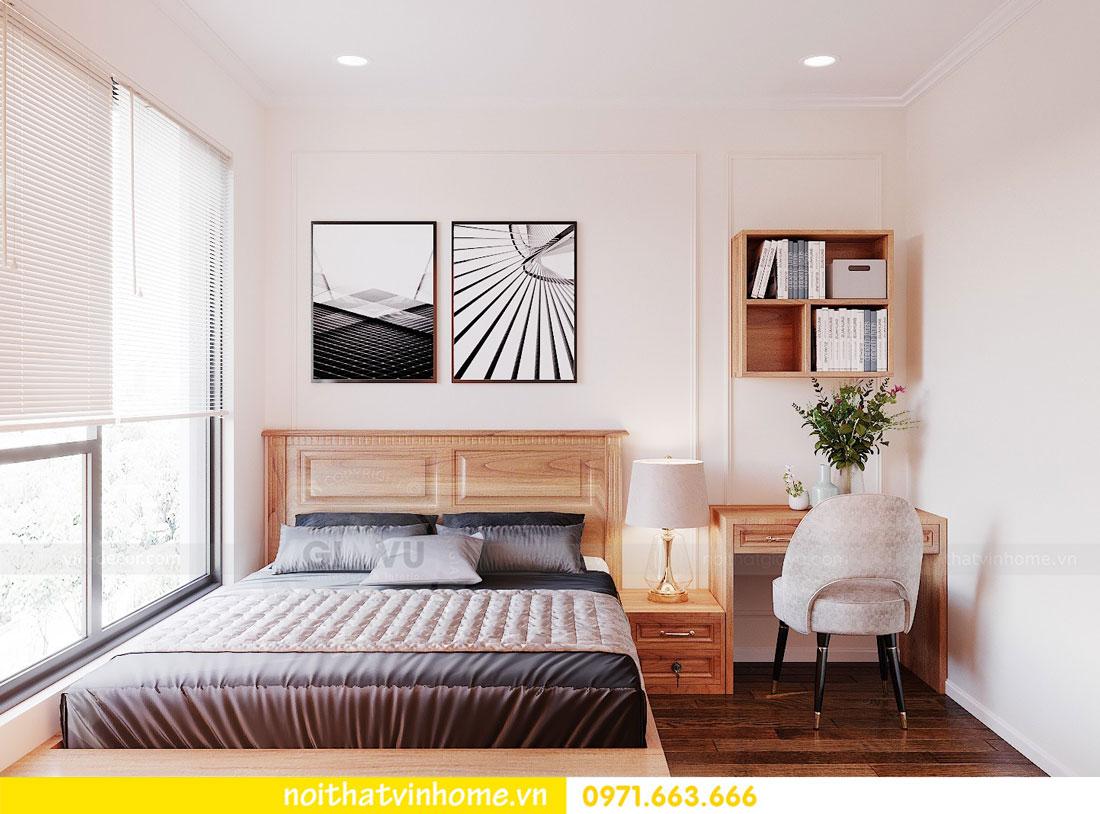 thiết kế nội thất căn hộ với gỗ sồi tự nhiên 11