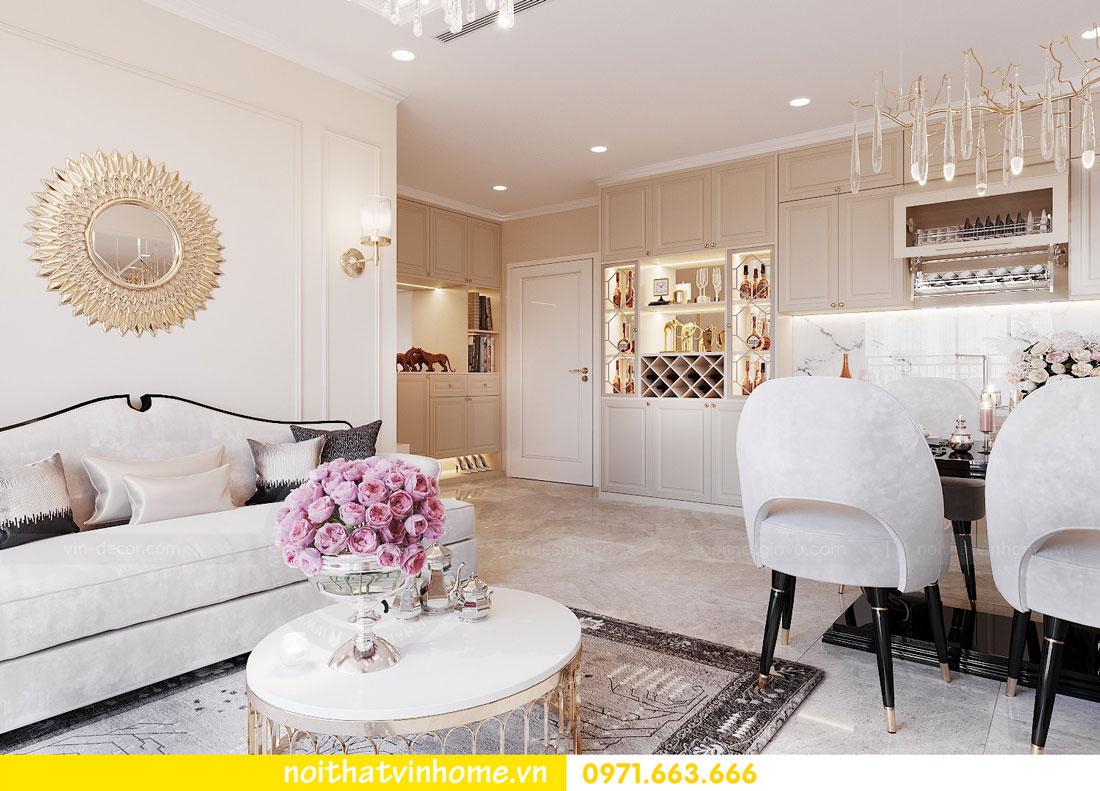 thiết kế nội thất cao cấp căn hộ 3 phòng ngủ nhà anh Phương 01