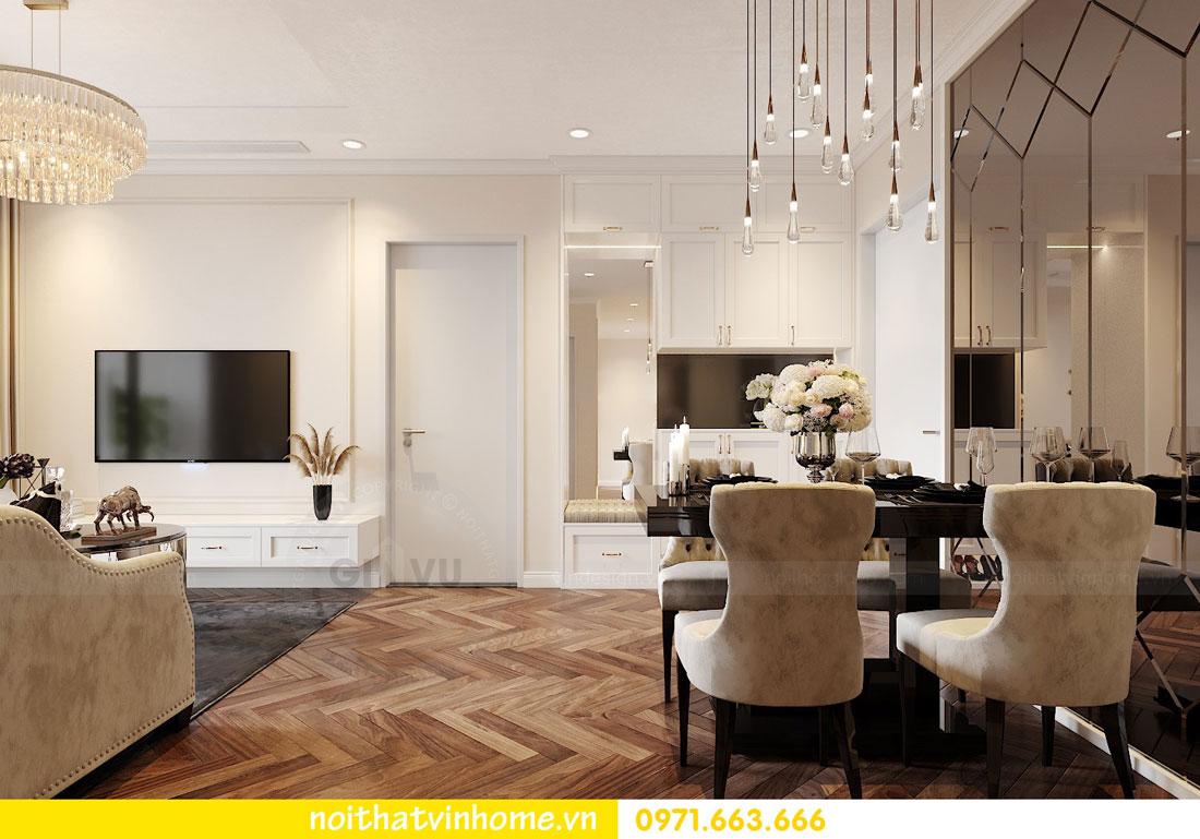 Thiết kế nội thất chung cư 70m2 đẹp sang trọng hiện đại 01