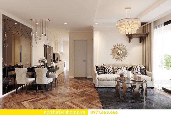 Thiết kế nội thất chung cư 70m2 đẹp sang trọng hiện đại 02