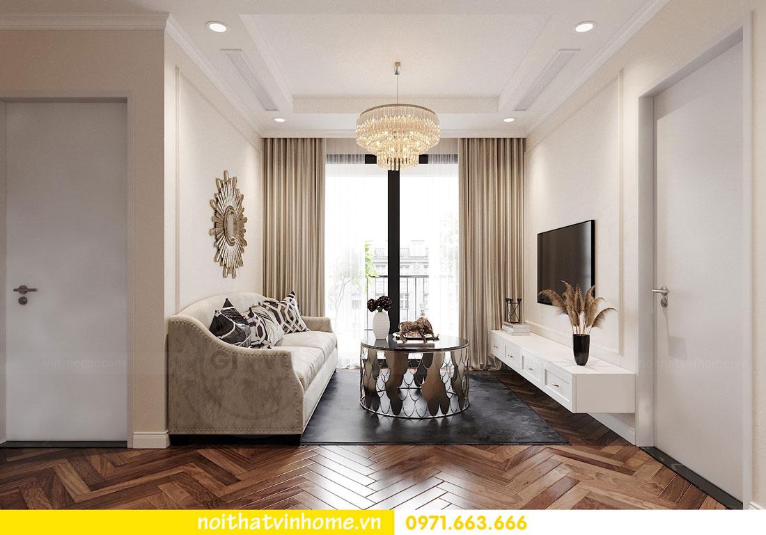 Thiết kế nội thất chung cư 70m2 đẹp sang trọng hiện đại 03