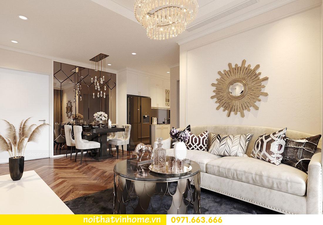Thiết kế nội thất chung cư 70m2 đẹp sang trọng hiện đại 04