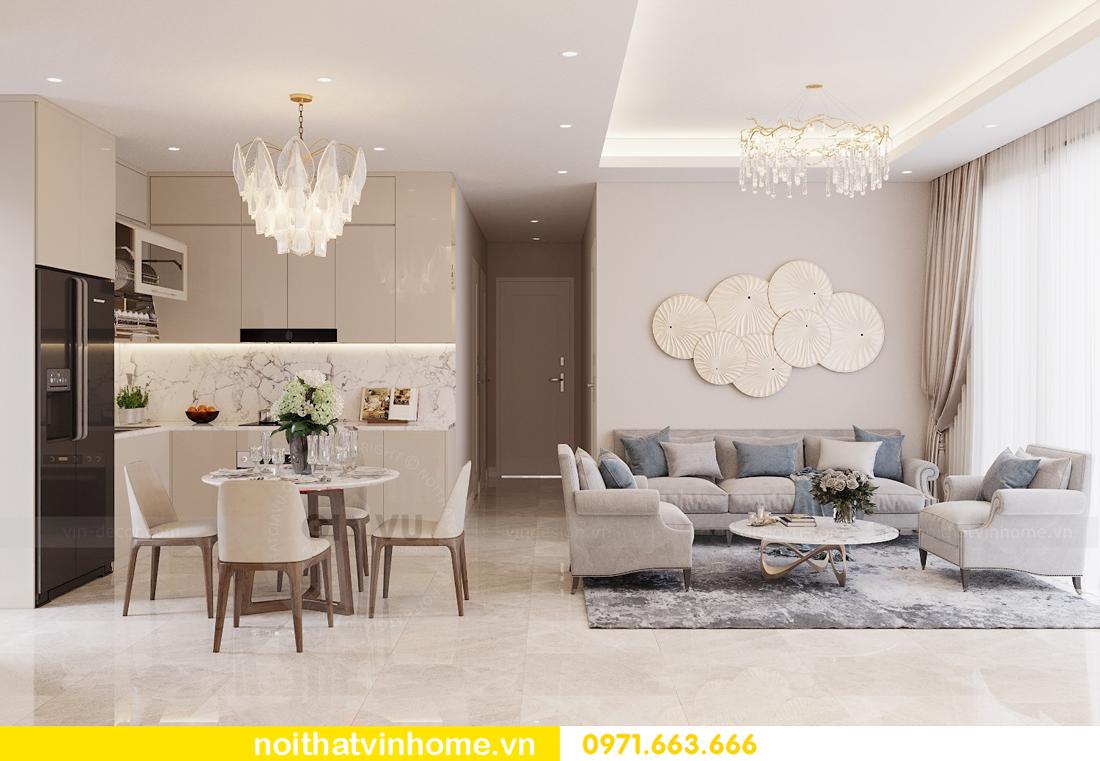 thiết kế nội thất chung cư 98m2 với 3 phòng ngủ nhà anh Sơn 02