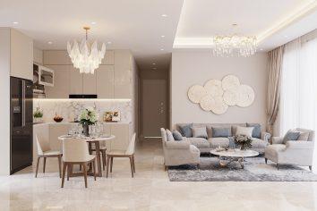 thiết kế nội thất chung cư 98m2 với 3 phòng ngủ nhà anh Sơn