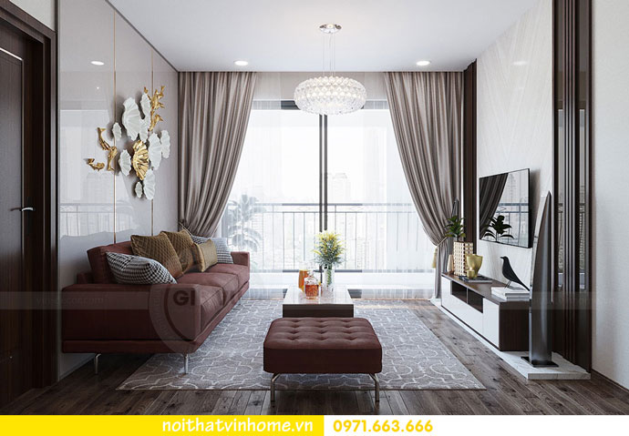 thiết kế nội thất chung cư căn 3 ngủ đẹp hiện đại 05