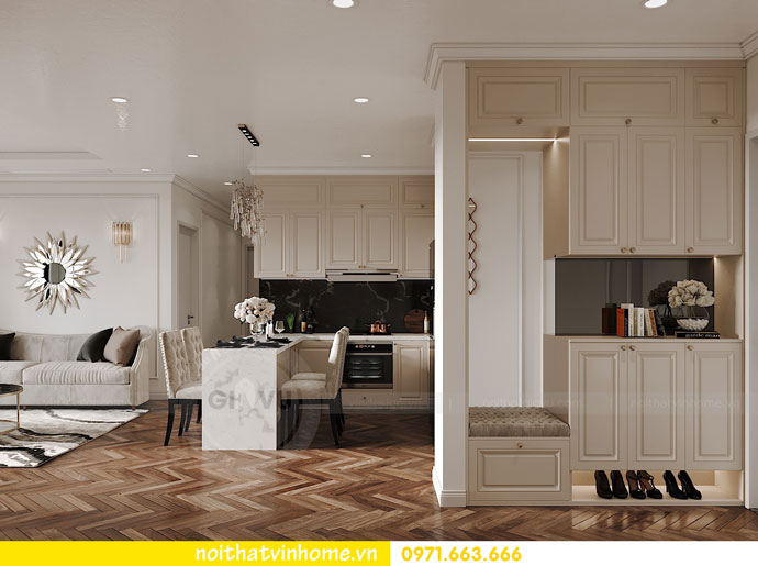 thiết kế nội thất chung cư DCapitale trọn gói nhà anh Lượng 1